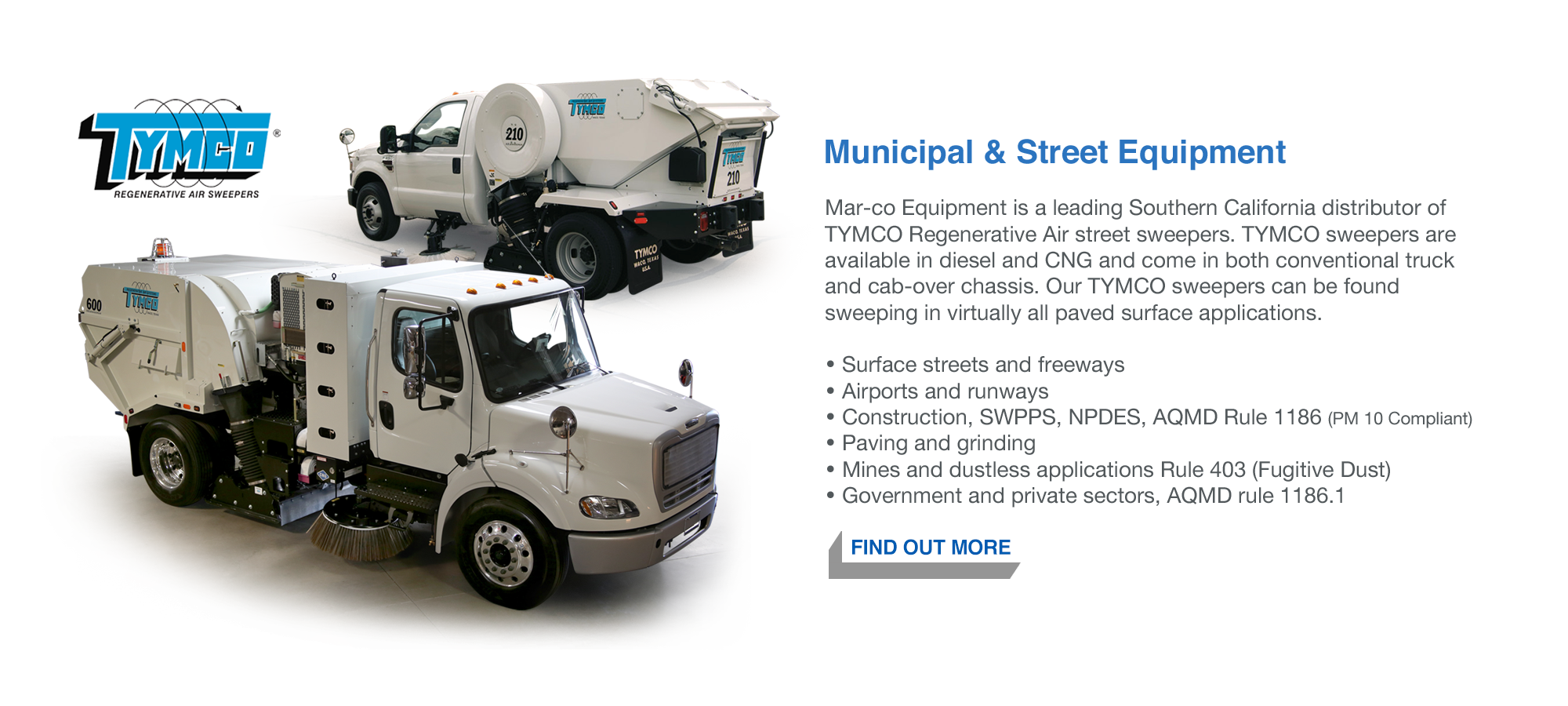 Mar-co Street Sweepers, Tymco Street Sweepers